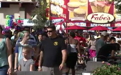 Pelea en Feria de Fresno