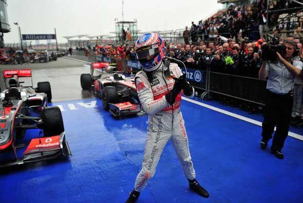 Con la victoria, Button pasó a encabezar la clasificación...