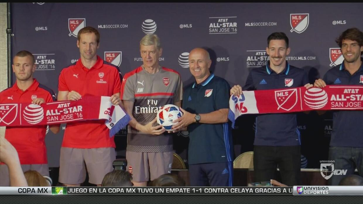 Día de medios del MLS All-Stars vs Arsenal