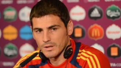 Iker Casillas, el guardameta de la selección española y del Real Madrid...