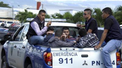 Sirios detenidos en Honduras.