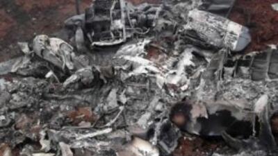 Imagen de la avioneta que se accidentó en Colombia. Fotografía tomada de...
