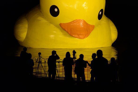 Un sorprendente pato inflable de 18 metros de altura en el histór...