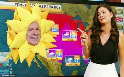 El Sol regresó al segmento del clima, pero para contar chistes con Ana P...