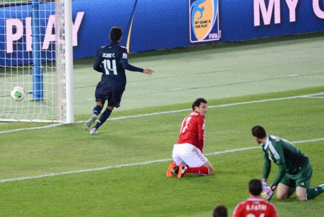 Sólo se jugaba el minuto tres del duelo y Jesús Coronoa ya marcaba el 1-0.