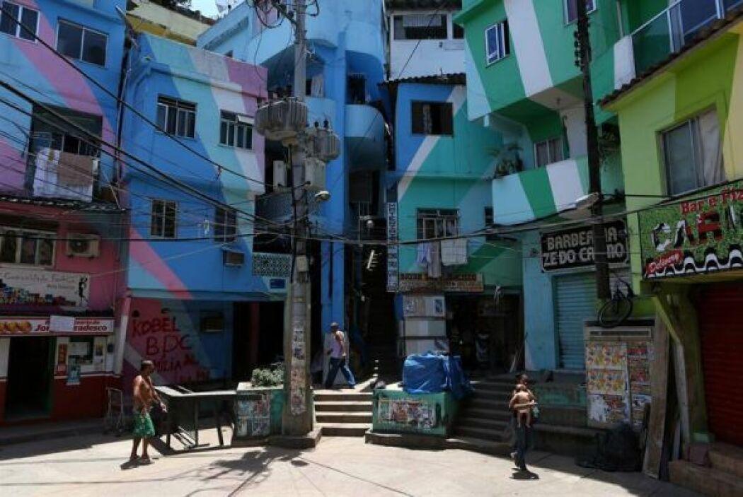 Fotografía general de una parte de la favela Doña Marta en Río de Janeir...