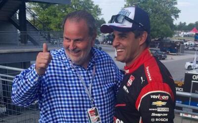 El Gordo de Molina acudió a las 500 de Indianápolis, donde ganó Montoya.