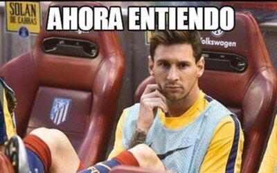 Lionel Messi se lesionó pero las redes sociales lo tomaron con humor