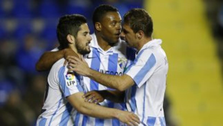 Isco celebra su segundo gol ante Levante.