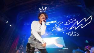 Jaden Smith performing at the Afropunk Festival At Trianon In Paris