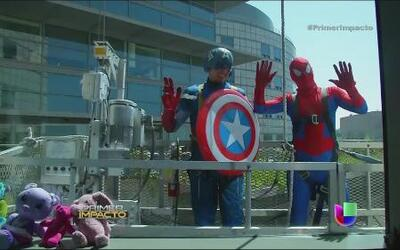Súper héroes se reunieron en un hospital infantil de California