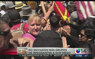 No enviarán más grupos de inmigrantes a San Diego