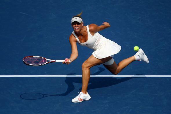 La bella Carolina Wozniacki disputó un entretenido partido frente la ame...