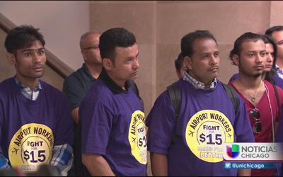 Trabajadores del aeropuerto O' Hare denuncian robo de salarios