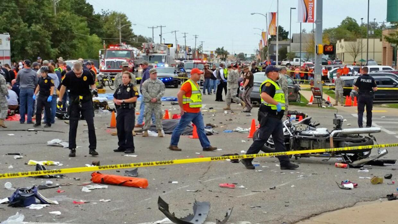 Acicdente fatal en un desfile universitario en Oklahoma