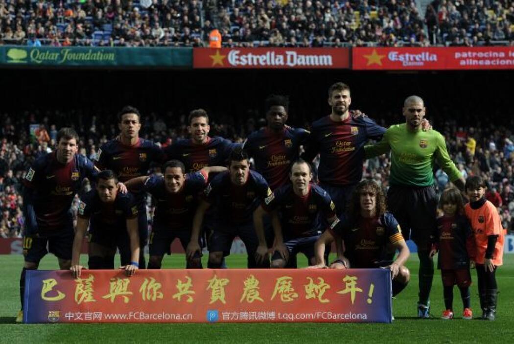 Barcelona llegaba a la fecha 23 de la Liga española abriendo plaza en la...