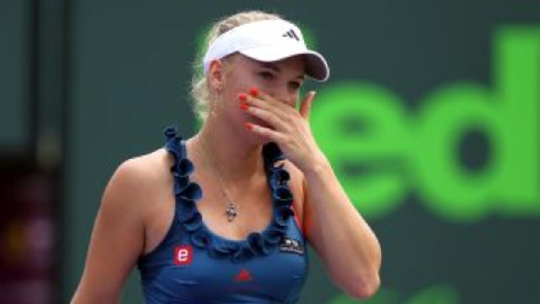 Wozniacki fue superada en tres sets.