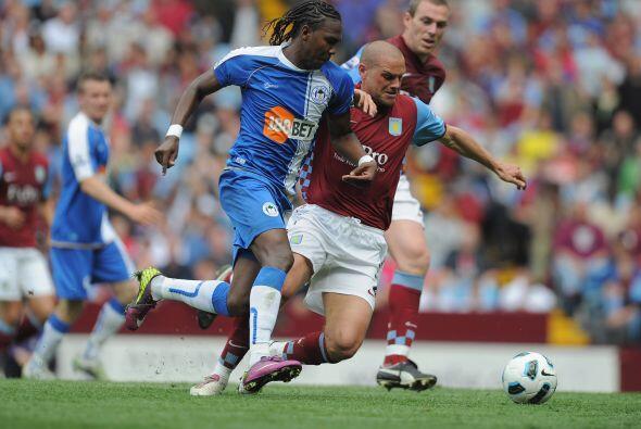 Wigan y Aston Villa no se sacaron ventajas y repartieron puntos. Empatar...
