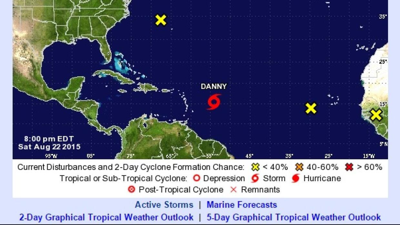 Tormetan tropical Danny