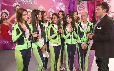 Jorge Salinas ensayó con las finalistas de Nuestra Belleza Latina