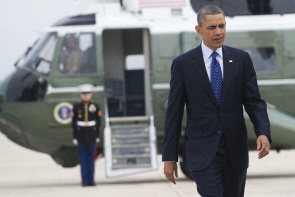 El Presidente salió de la base aérea Andrews de Maryland esta mañana, co...