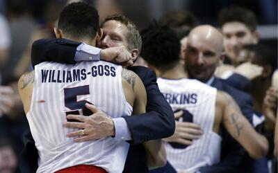 El coach Mark Few llevó a Gonzaga a su primer Final Four.