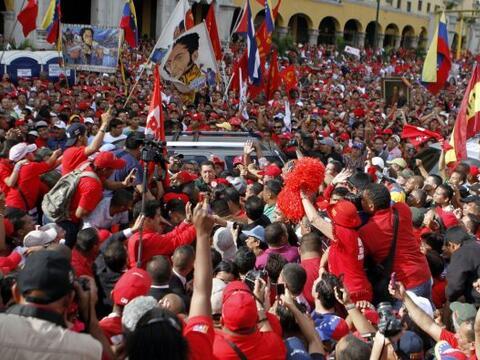 La nueva Asamblea Nacional de Venezuela celebró su triunfo junto...
