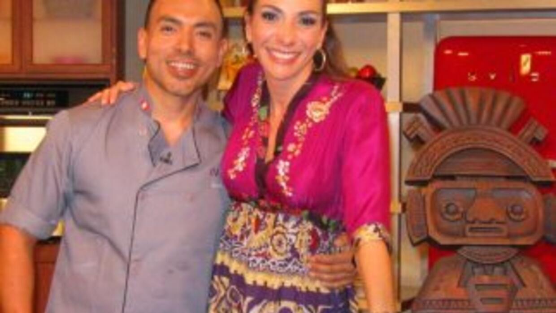 Maggie y chef Juan Chipoco