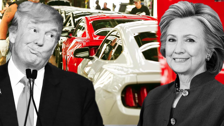 Hillary Clinton y Donald Trump proponen dos visiones muy distintas para...