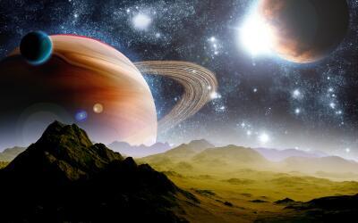 Se trata de tres planetas que orbitan alrededor de una estrella enana ul...