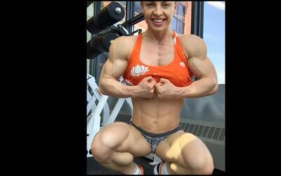 """Así luce el polémico cuerpo """"0% de grasa corporal"""" de una culturista rusa"""