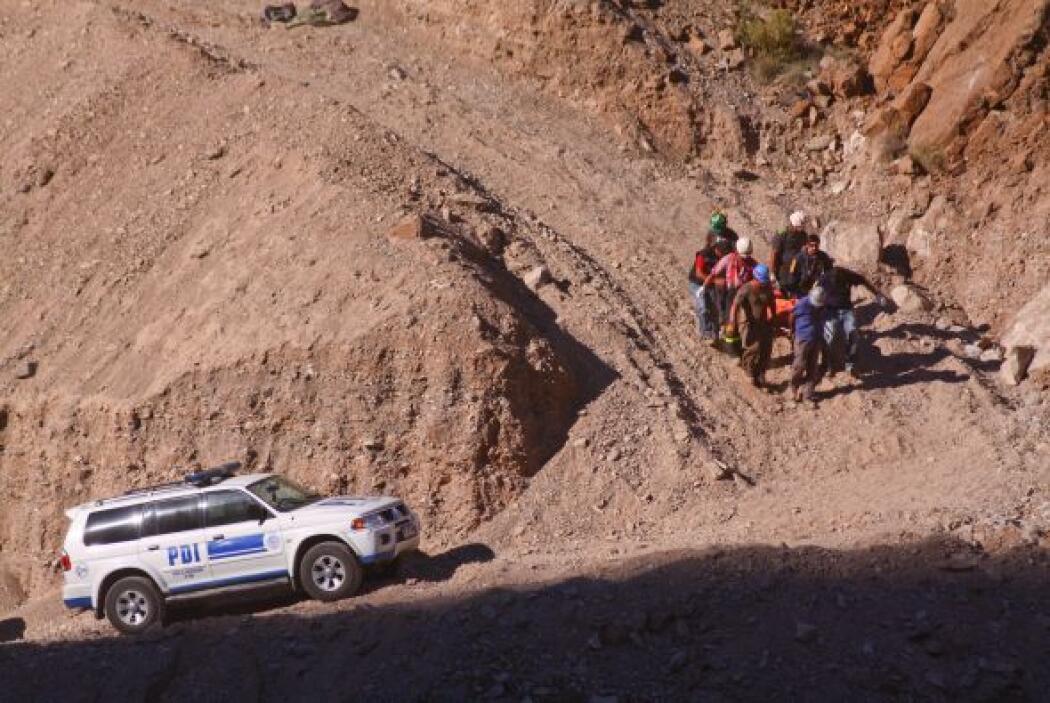 El interior de la mina de cobre Los Reyes, cercana a Copiapó, misma loca...