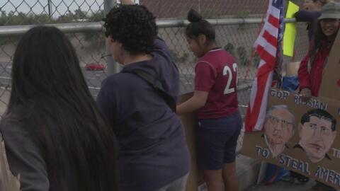 Protesta de inmigrantes provocó cierres en la interestatal 10 de Phoenix