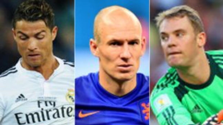 Cristiano Robben y Neuer son los candidatos a mejor jugador de la UEFA.
