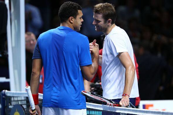 Por su parte, el francés Jo-Wilfried Tsonga, sexto tenista en el...