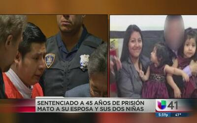 Recibe 45 años de prisión por matar a su familia