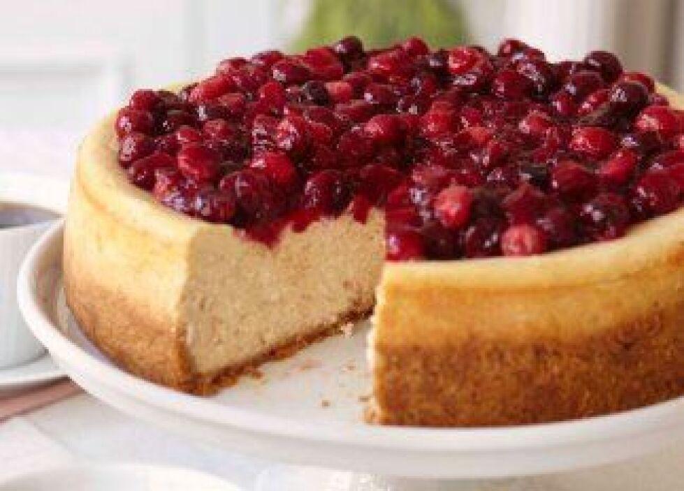 'Cheesecake' con canela y glaseado de arándanos: Si disfrutas los postre...