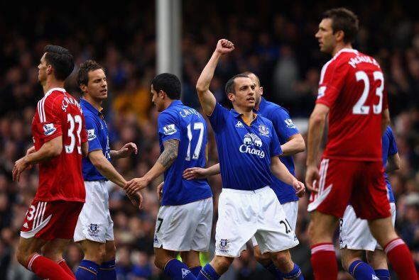 Everton superó al West Bromwich 2 a 0.