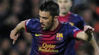 Villa se asoció con Messi para crear la jugada con la que el balón le qu...