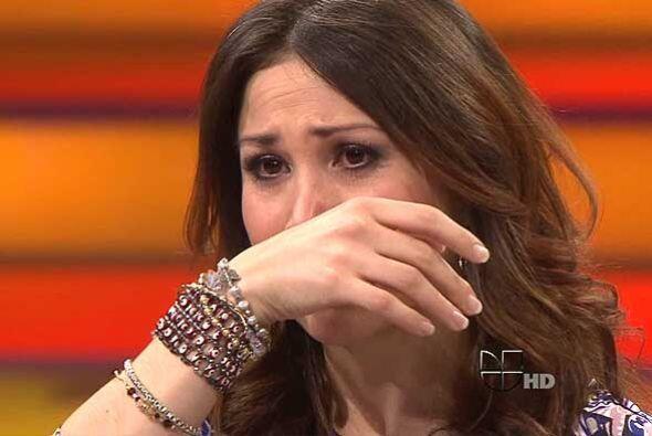 Mientras que la bailarina Bianca Marroquín  no pudo contener las lágrima...