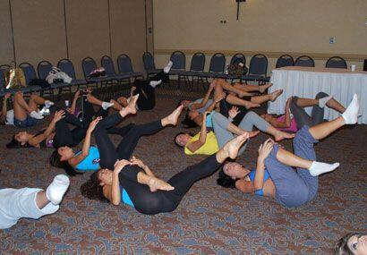 El primer paso es un entrenamiento para calentar los músculos.