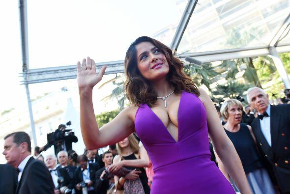 Salma Hayek es invitada especial al festival de Cannes.