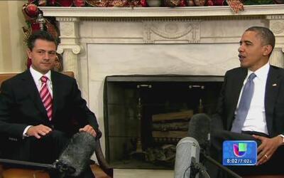 Obama y Peña Nieto acordaron unir fuerzas para combatir el tráfico humano