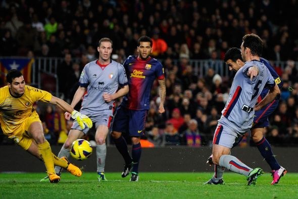 Pero no bastaba para Messi, que culminó el marcador con un cuarto gol en...