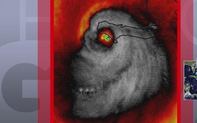 Imagen de una calavera en fotografía satelital de Matthew
