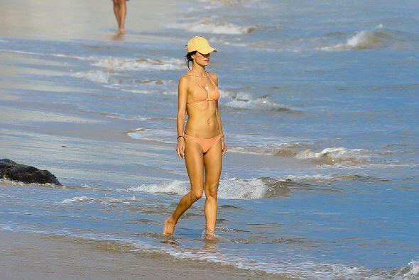 Alessandra no se animó a nadar.