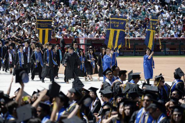 Había cientos de estudiantes.