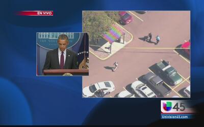 Presidente habla sobre masacre en Oregon