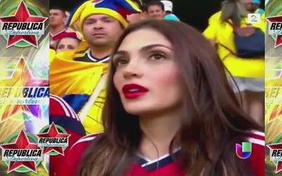 La fan #1 de Colombia estuvo en República Deportiva