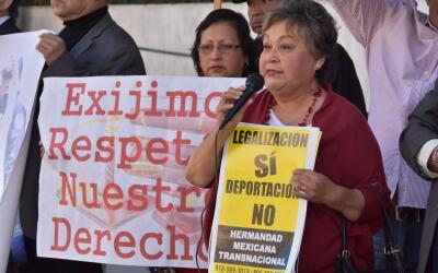 La activista Gloria Saucedo